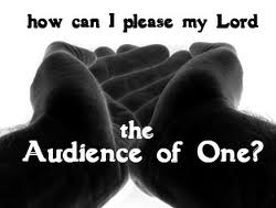 I like simple - audience of one