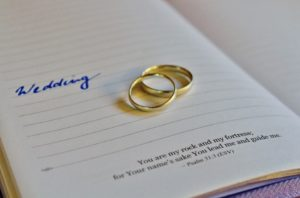 Wedding rings - stones of remembrance