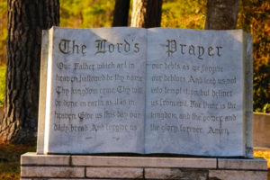 Lord's Prayer sculpture