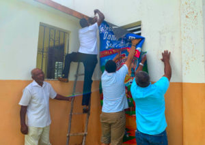 Blessings Hanging A Banner